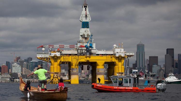 احتجاجات في سياتل ضد مشاريع التنقيب عن النفط في القطب الشمالي