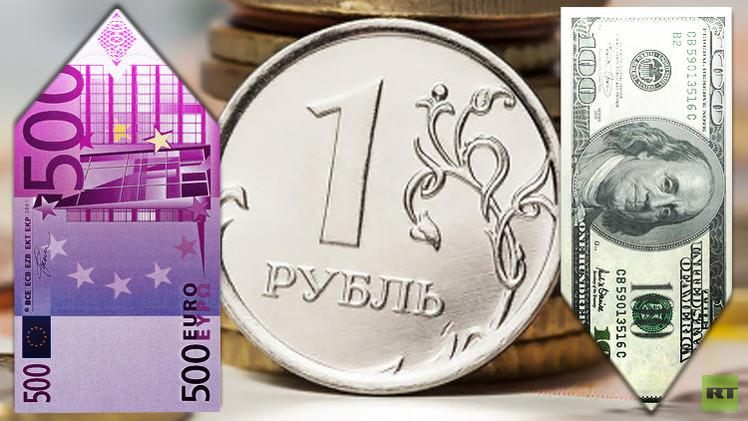 الروبل الروسي يرتفع مقابل الدولار ويتراجع مقابل اليورو