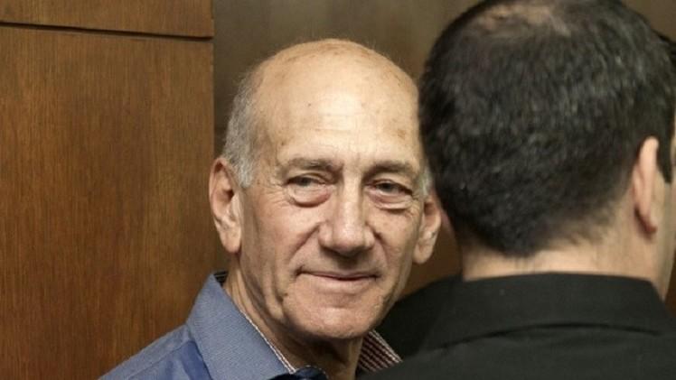 الحكم على رئيس الوزراء الاسرائيلي السابق بالسجن 8 أشهر  في قضية