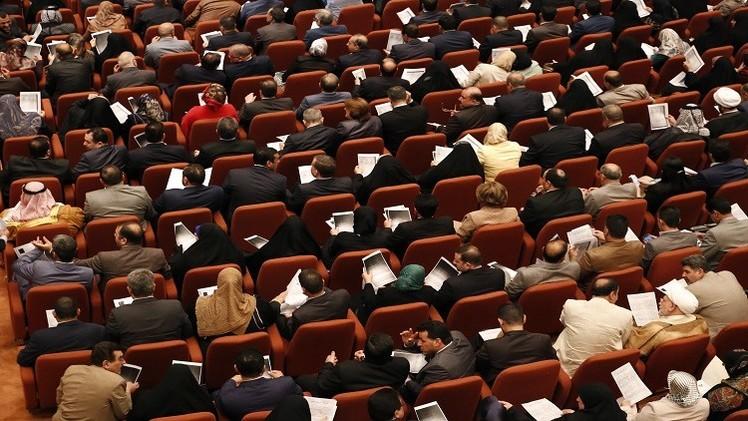 اشتباك بالأيدي تحت قبة البرلمان العراقي