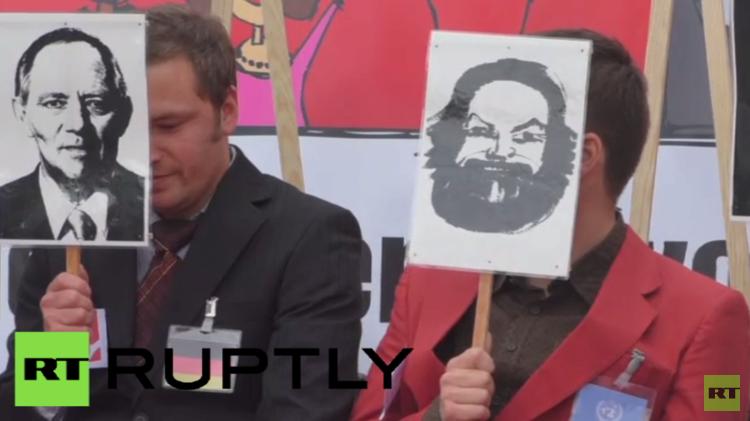 ألمانيا.. احتجاجات منددة باجتماع وزراء مالية مجموعة السبع (فيديو)