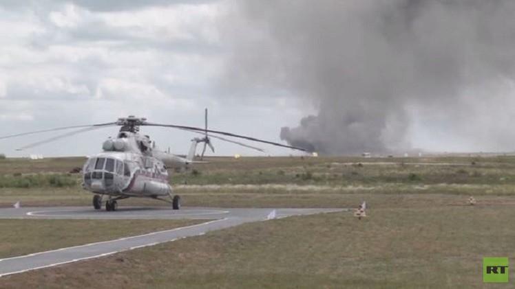 القوات الجوية الروسية تقدم عرضا في فورونيج (فيديو)