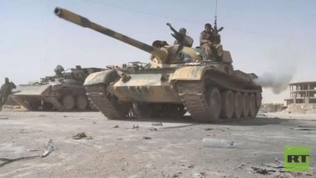 تقدم الجيش السوري في منطقة الحدود اللبنانية السورية