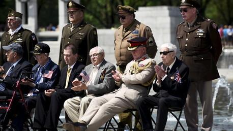 محاربون قدامى في الولايات المتحدة خلال الاحتفال