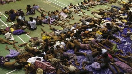 المهاجرين غير الشرعيين الذين تم انقاذهم الاثنين 11 مايو/أيار - إندونيسيا