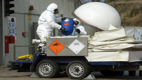 التخلص من أسلحة كيميائية (صورة أرشيفية)