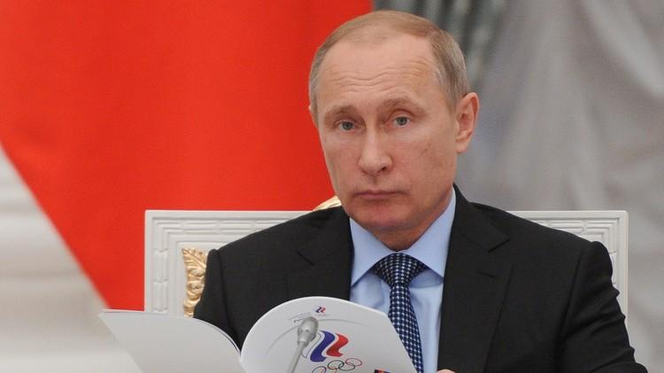 بوتين يقترح إنشاء قناة رياضية عامة