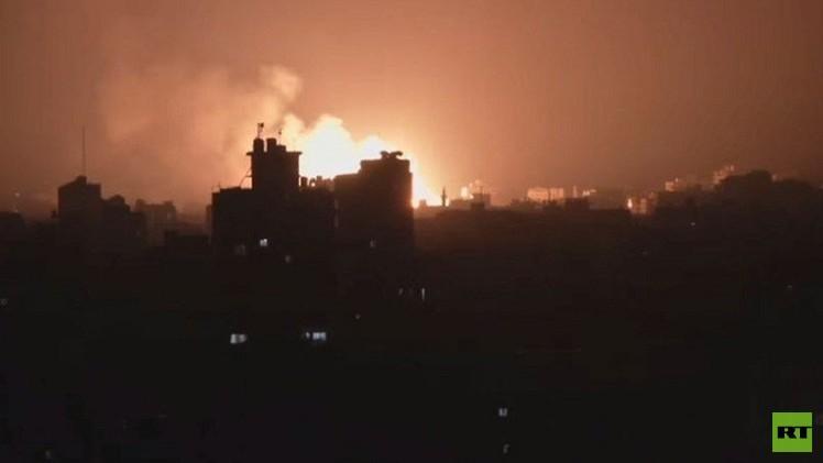 غارة إسرائيلية على قطاع غزة بعد إطلاق صاروخ