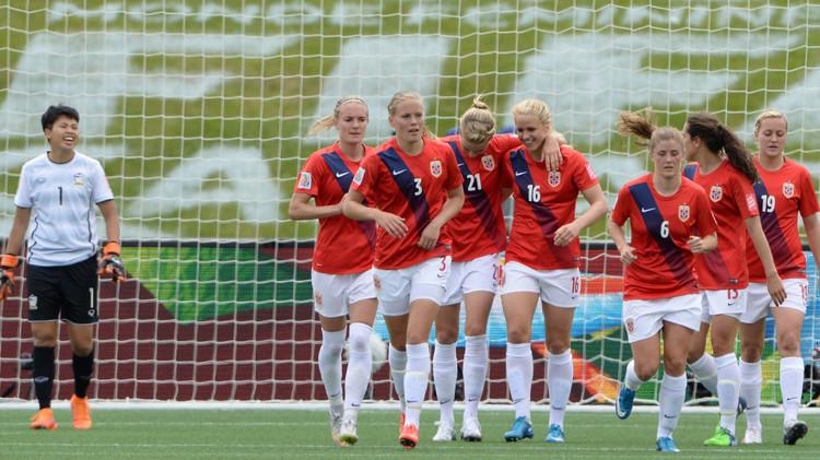 النرويج تكتسح تايلند في مونديال السيدات .. (فيديو)