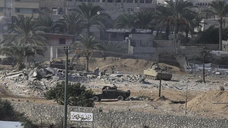 وسائل إعلام مصرية: دوي انفجار ضخم في الشيخ زويد شمالي سيناء