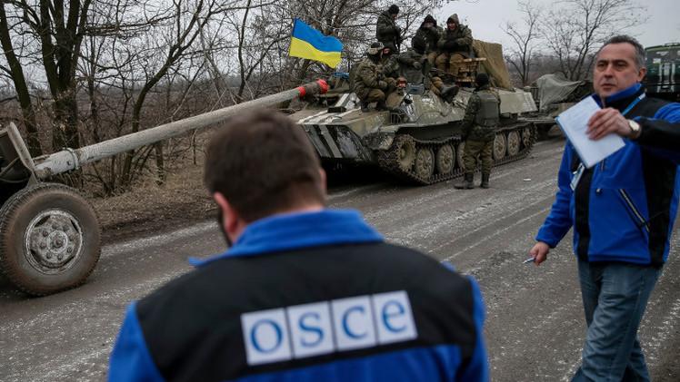 بعثة المراقبة الدولية: نسجل يوميا وجود أسلحة ثقيلة بمنطقة النزاع في شرق أوكرانيا