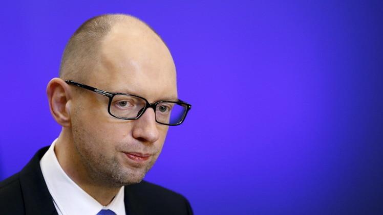 ياتسينيوك: سنستعيد السيطرة على دونباس والقرم بالكامل