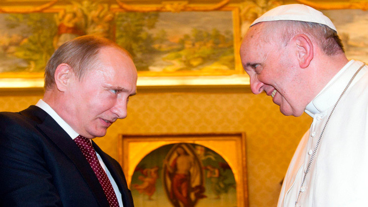 أوكرانيا ووضع مسيحيي الشرق محور لقاء بوتين ببابا الفاتيكان