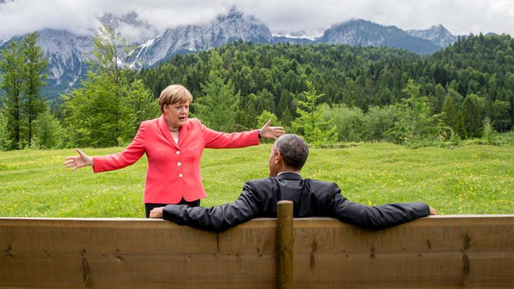صورة ميركل مع أوباما تفجر صفحات الإنترنت