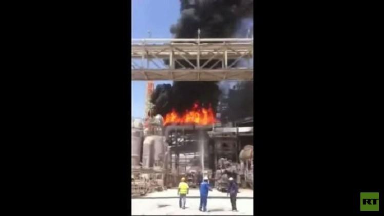 حريق كبير في معمل إسرائيلي لإنتاج الأسمدة والفوسفات (فيديو)