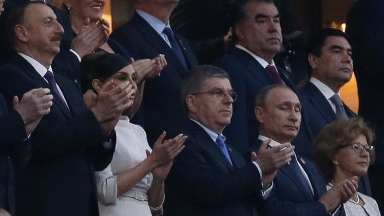 بوتين يشارك في حفل افتتاح دورة الألعاب الأوروبية الأولى (صور وفيديو)