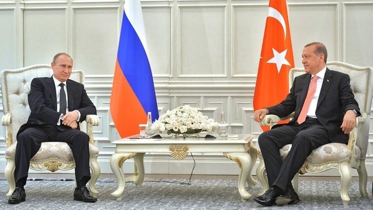 بوتين وأردوغان يؤكدان نيتهما زيادة التبادل التجاري إلى مئة مليار دولار