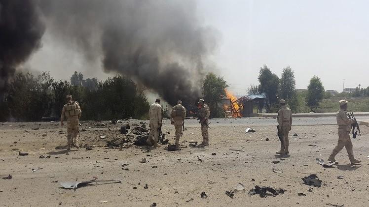 14 قتيلا من القوات المشتركة في تفجيرات انتحارية لداعش شمال تكريت