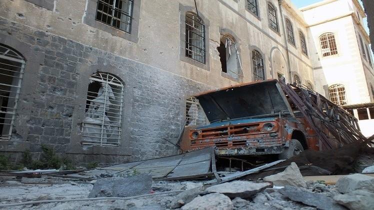 إصابة 25 شخصا في تفجير ميكرو باص مفخخ قرب مدرسة بحمص