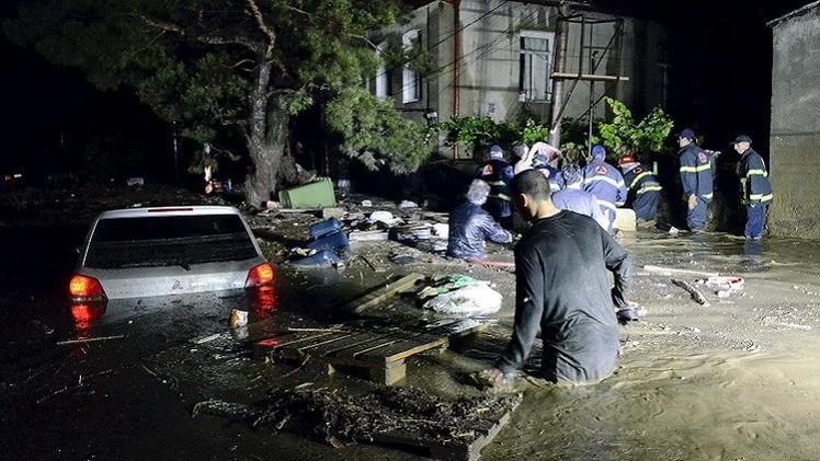 موسكو تعرض على جورجيا المساعدة  لتجاوز آثار الفيضان (فيديو)