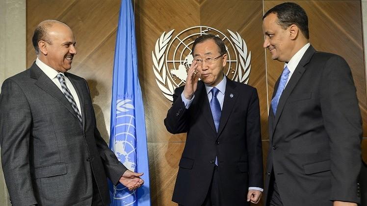 بان كي مون يجري لقاءات عمل في جنيف تمهيدا لبدء مشاورات بشأن اليمن