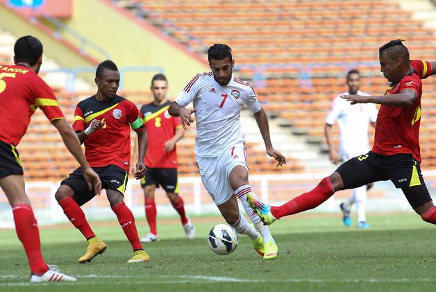 فيديو .. الأبيض الإماراتي يعود بثلاث نقاط من تيمور الشرقية