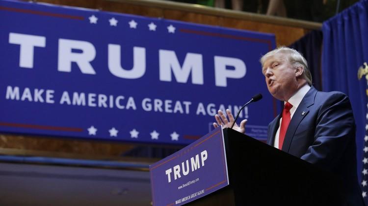 دونالد ترامب ينضم إلى سباق الرئاسة الأمريكية