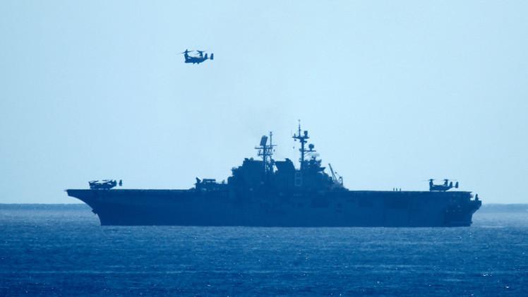 مشاة البحرية الأمريكية على متن سفن حربية أوروبية في المتوسط