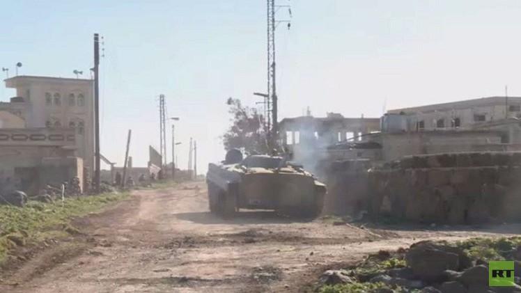 مسلحو النصرة يتقدمون في ريف إدلب والطيران يقصفهم