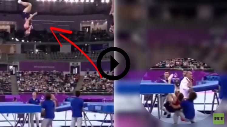 (فيديو) متطوع ينقذ رياضي بولندي في دورة الألعاب الأوروبية