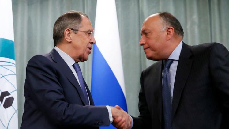 لافروف وشكري يؤكدان أهمية الجهود السياسية لحل الأزمة السورية