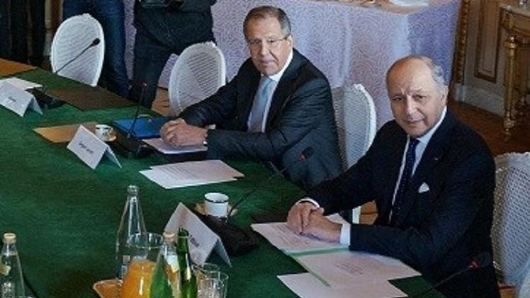 لافروف وفابيوس يبحثان تطورات الاوضاع في الشرق الاوسط