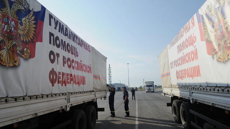 قافلة مساعدات إنسانية روسية جديدة تتجه إلى شرق أوكرانيا الخميس