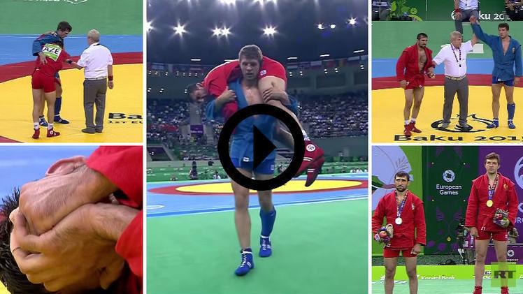 (فيديو) مصارع سامبو ينسى الفوز ويحمل خصمه المصاب لتلقي العلاج