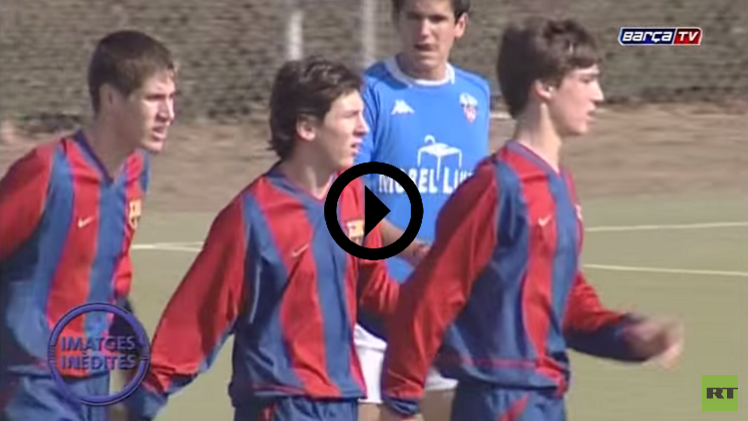 (فيديو) شاهد ميسي يتألق في فريق شباب برشلونة