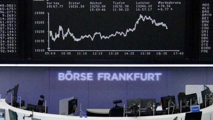 الأسهم الأوروبية تنخفض بفعل أزمة ديون اليونان