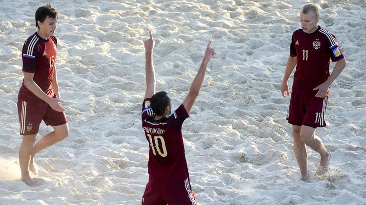 روسيا تبلغ نهائي كرة القدم الشاطئية في دورة الألعاب الأوروبية