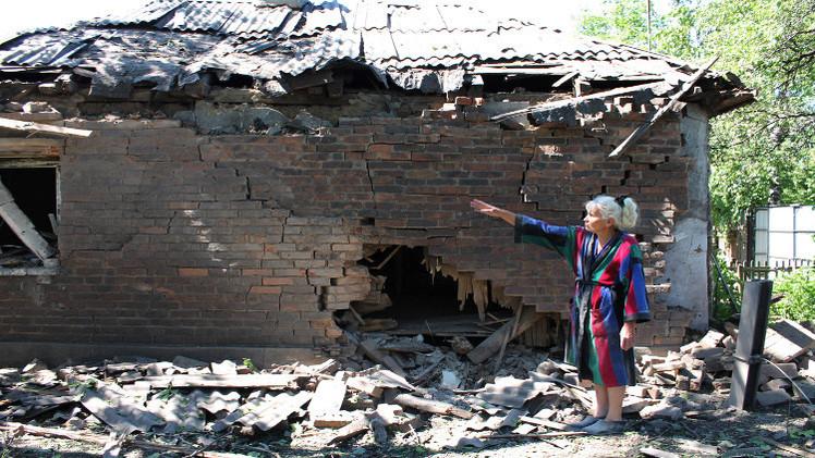 مقتل مدني في قصف ليلي لغورلوفكا شرقي أوكرانيا