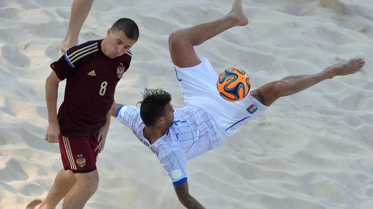 روسيا تتوج بذهبية كرة القدم الشاطئية في الألعاب الأوروبية
