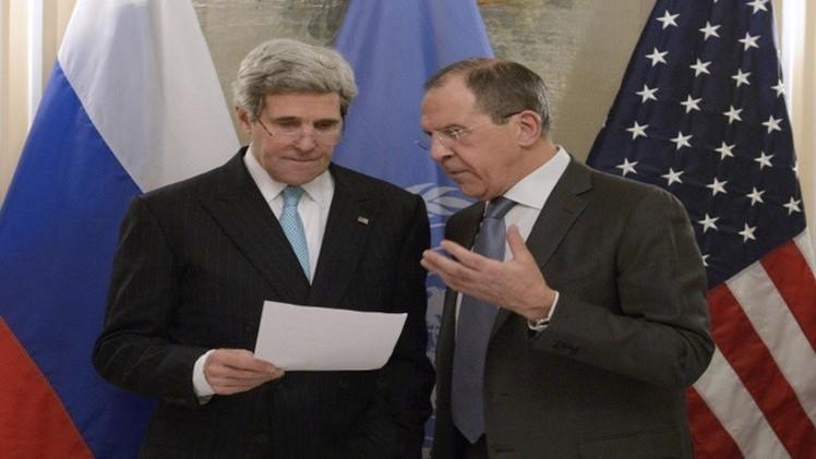 لافروف وكيري يبحثان معاهدة الصواريخ القصيرة والمتوسطة المدى