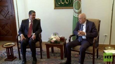 بحاح يلتقي العربي في القاهرة