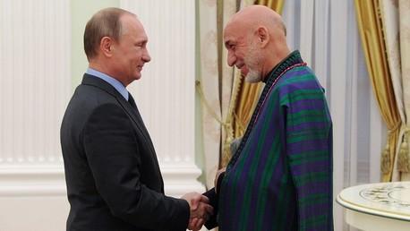 فلاديمير بوتين وحامد كرزاي