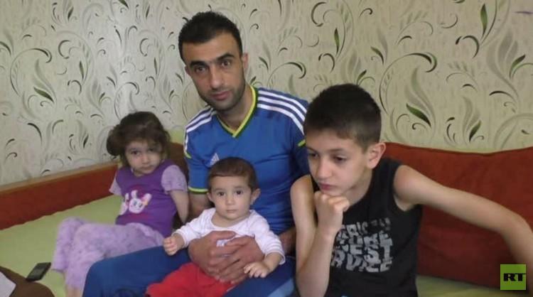 فريق RT  يجري لقاء مع مواطن سوري في دونيتسك (فيديو)