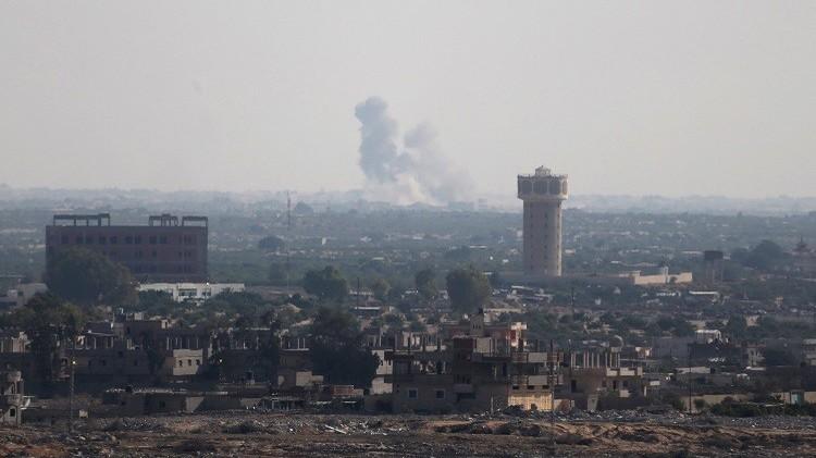 دخان متصاعد إثر قصف القوات المصرية شمال سيناء