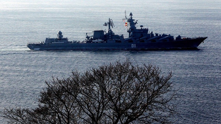 سفن روسية تطلق صواريخ مجنحة في إطار مناورات تجري في المحيط الهادئ