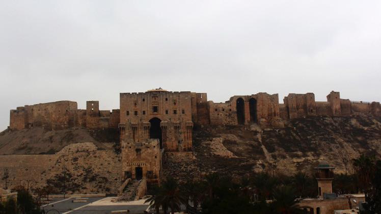 تضرر جزء من سور قلعة حلب الأثرية بتفجير نفق