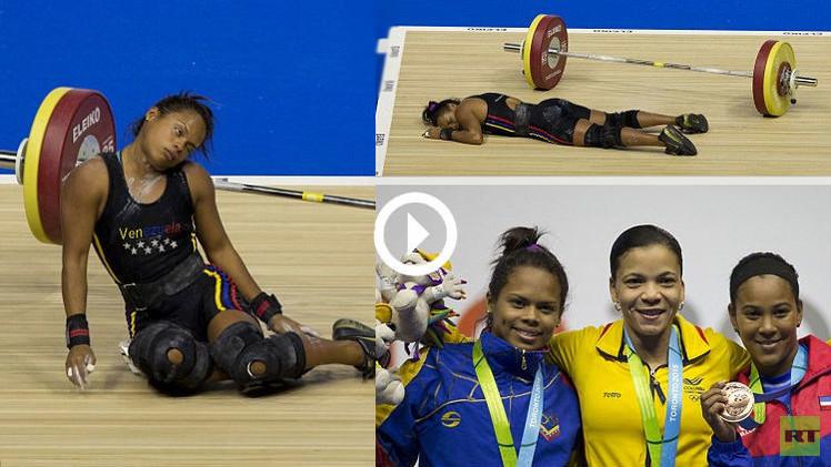 (فيديو) ربّاعة فنزويلية تنجو من إصابة خطرة وتفوز بالفضية في دورة الألعاب الأمريكية