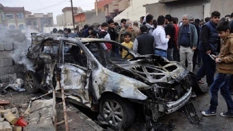 5 قتلى  بتفجير سيارة مفخخة في ديالى بالعراق