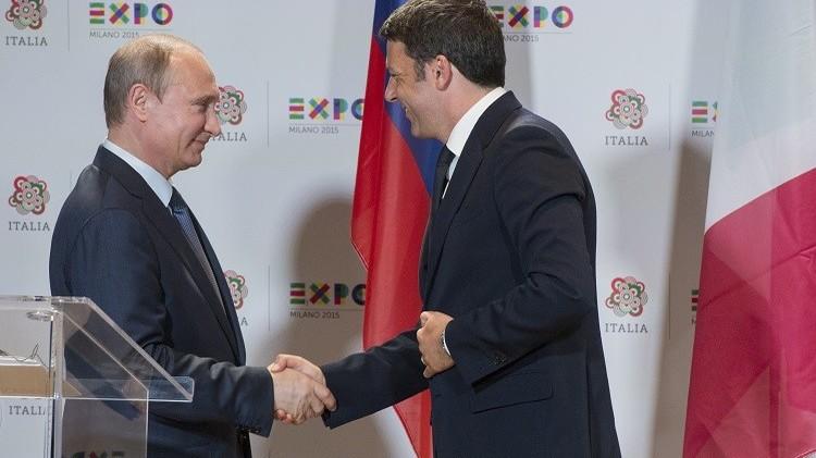 بوتين ورينتسي يأملان في نجاح جهود المجتمع الدولي لتسوية أزمتي سوريا وليبيا