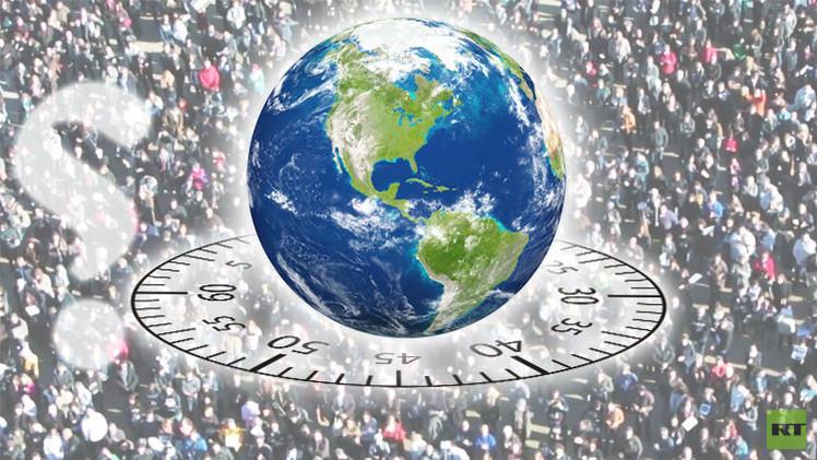 كيف يتغير التعداد السكاني للكوكب خلال دقيقة واحدة؟